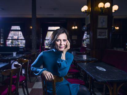 Aitana Sánchez Gijón, el viernes pasado en el Café Gijón de Madrid.