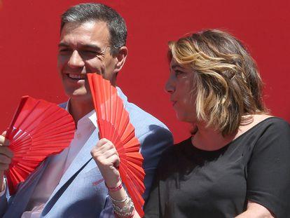 Pedro Sánchez y Susana Díaz, en un mitin en Córdoba en mayo de 2019.