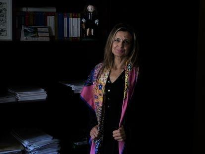 Algeciras (Cadiz)  14/10/2020. La jueza Carmen Martínez en su despacho del juzgado de Algeciras.