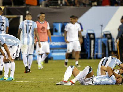 El equipo argentino tras la derrota en la final en Nueva Jersey.