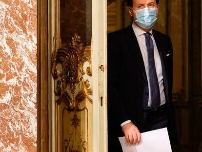 El primer ministro italiano, Giuseppe Conte, en rueda de prensa en Roma el pasado 18 de diciembre.