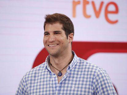 Julián Contreras en la presentación de su colaboración con el programa 'Corazón' de TVE.