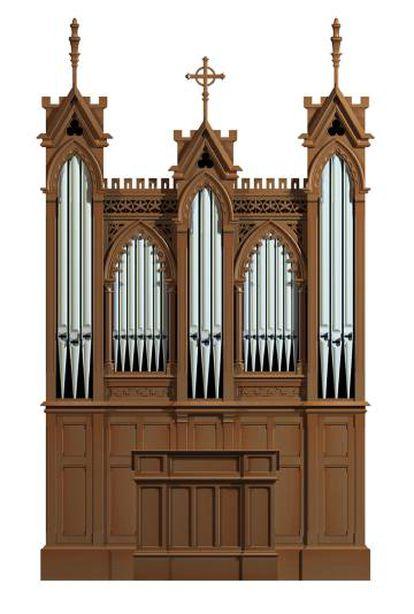 Imagen del órgano creado por la firma Cavaillé-Coll en París en 1896.