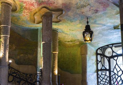 Interior de la Casa Milà, más conocida como La Pedrera.