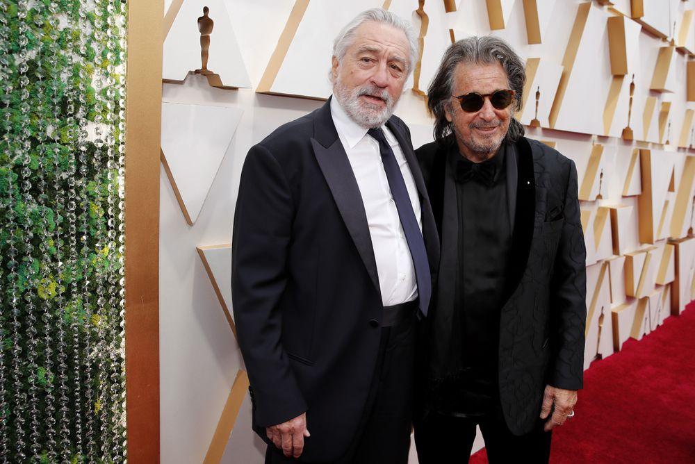 Robert de Niro y Al Pacino, en los Oscar, en febrero de 2020