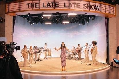 La cantante neozelandesa Lorde en 'The Late Late Show with James Corden', el pasado agosto.