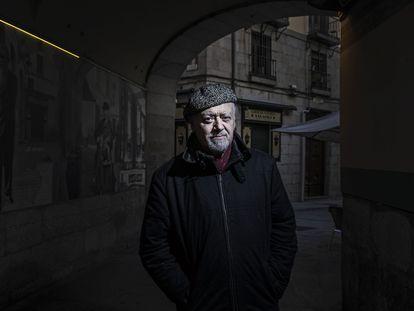 Mario Gas, en el callejón de San Ginés, en Madrid, la semana pasada.