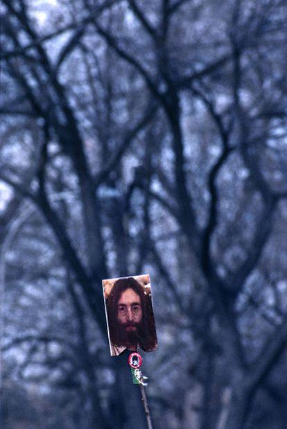 Homenaje a Lennon, Central Park, 1980.
