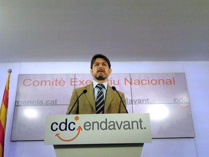 El secretario general de CDC, Oriol Pujol, en junio de 2012.