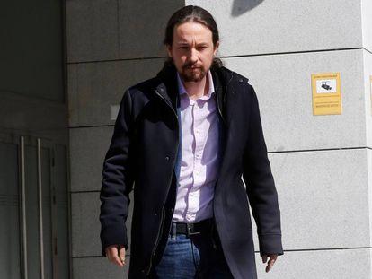Iglesias acude a la Audiencia Nacional como perjudicado por el caso Villarejo.