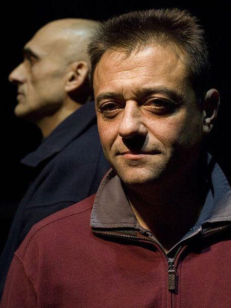 Arturo Lanz (en primer término) y Saverio Evangelista, del grupo Esplendor Geométrico, en 2011.