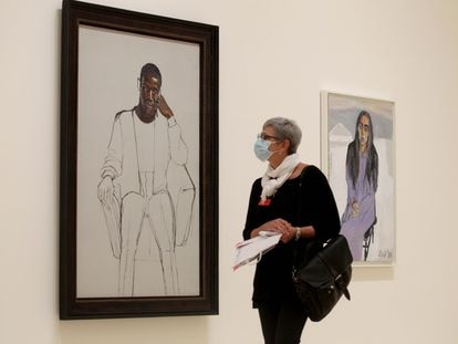 16-09-21- guggenheim exposicion de Alice Neel    recluta negro y GinnyFoto: Fernando Domingo-Aldama