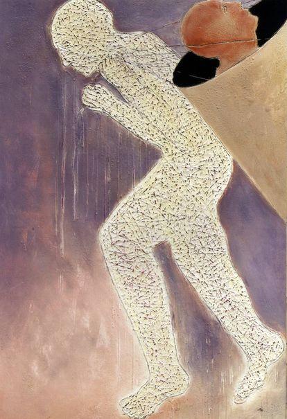 Obra 'Sin título' del artista marroquí Mahi Binebine.