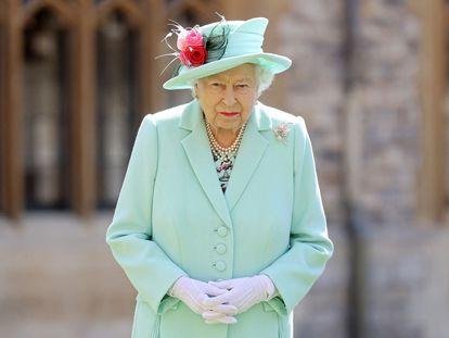 La reina Isabel II, el pasado julio, en el castillo de Windsor.