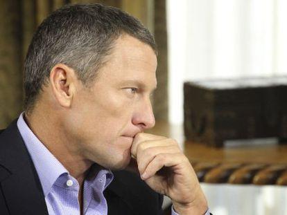 El ciclista estadounidense Lance Armstrong, en un momento de la entrevista.