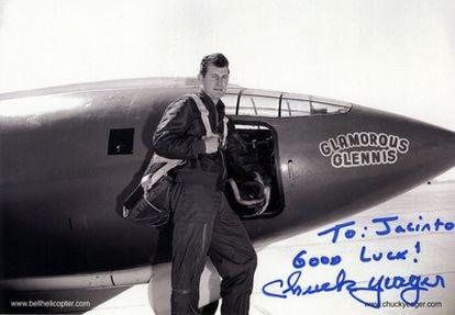 Audaz aviador, as de caza con 13 derribos de aeroplanos alemanes en la II Guerra Mundial, combatiente en Vietnam y osado piloto de pruebas, el general del arma aérea estadounidense Chuck Yeager (Myra, Virginia, 1923) es una leyenda viviente de la historia de la aviación.