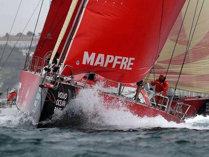 El Mapfre, en la regata In-Port de Lisboa.
