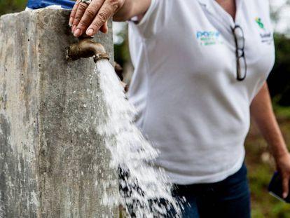 Este grifo abastece de agua a la comunidad de Buena Vista, en la provincia de Cocle (Panamá).