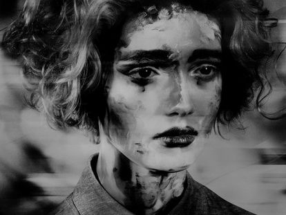 'Sin título' (serie 'Damas pintadas'), 2017, de Valérie Belin.