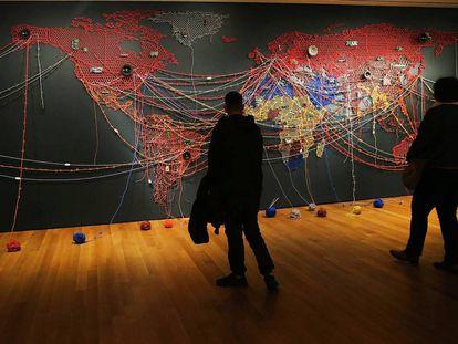 Mapa en el MOMA de Nueva York (2016).
