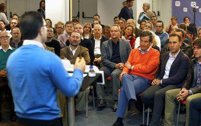 El presidente del PP valenciano, Alberto Fabra, en el foro de concejales de proximidad y participación ciudadana.