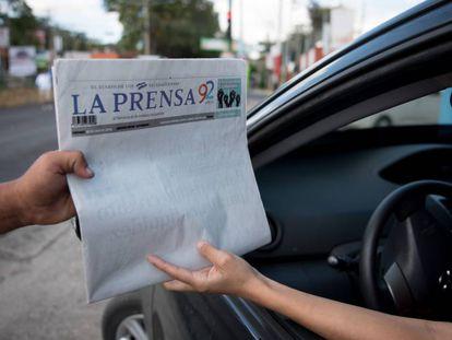 Un ejemplar de 'La Prensa', en Managua.