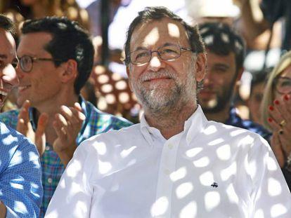 Mariano Rajoy, este miércoles, en un acto en Soller (Mallorca).