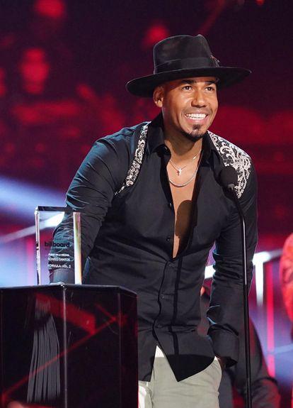 Romeo Santos, en los premios Billboard de la Música Latina, el miércoles.
