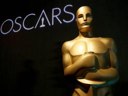 Una estatuilla de los Oscar en el almuerzo de los nominados a la edición número 91 de estos premios.