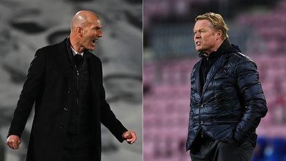 Zinedine Zidane y Ronald Koeman, esta temporada.