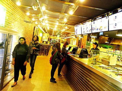 El local de Gran Vía de la red de franquicias de The Good Burger, propiedad de Restalia, dueña de Cien Montaditos y La Sureña.