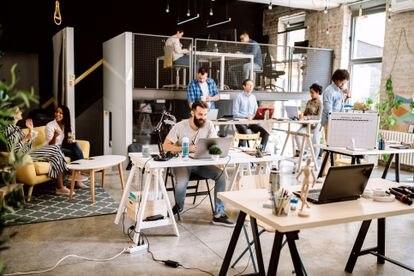 Los espacios de 'coworking' son cada vez más numerosos en todo el mundo. Estos lugares brindan a las nómadas digitales la oportunidad de socializar mientras trabajan.