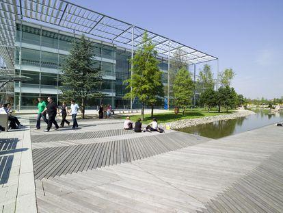 Edificio sostenible Chiswick Business Park, en Londres.