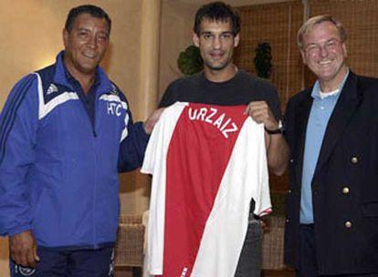 Urzaiz, con la camiseta del Ajax, su nuevo club.