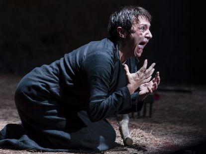Blanca Portillo, en un momento de su actuación en 'El testimonio de María'.