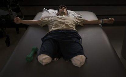 La imagen, del fotógrafo de 'The New York Times' Josh Haner, forma parte de un reportaje sobre la recuperación de esta víctima que se ha llevado un Pulitzer.