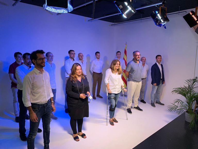 Marta Pascal, en el centro de la imagen, con los miembros del secretariado del Partit Naciionalista de Catalunya.