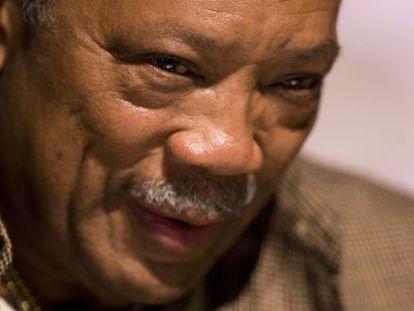El productor y músico Quincy Jones, durante una rueda de prensa.