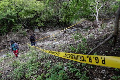 La barranca de La Carnicería, donde encontraron los restos de Christian Rodríguez.