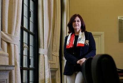Cani Fernandez, presidenta del CNMC (Comisión Nacional de Mercados y Competencia) en la sede del organismo en Madrid el pasado 14 de junio.