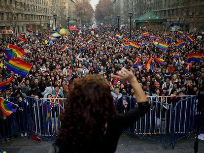 Celebraciones del orgullo gay en Santiago de Chile en 2019.