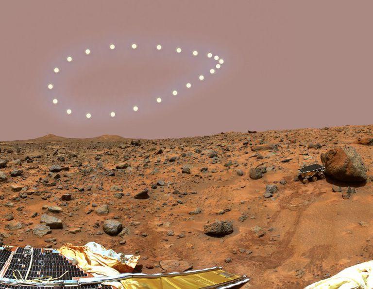 Un analema sobre Marte.