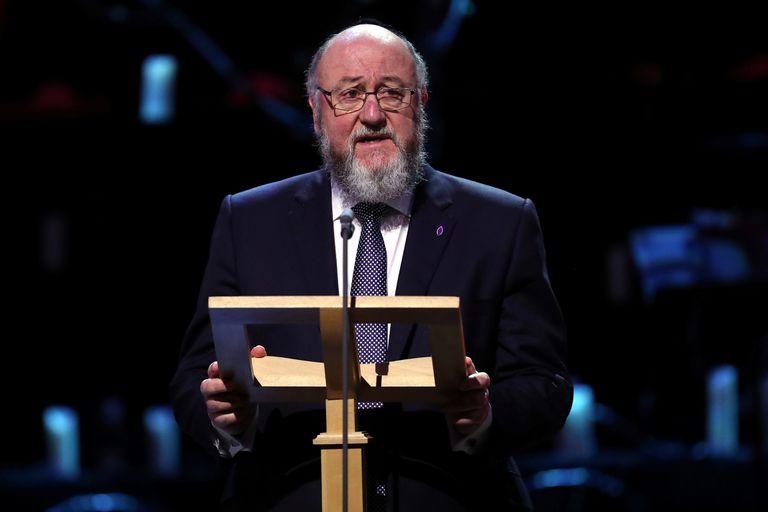 El gran rabino del Reino Unido, Ephraim Mirvis, el pasado enero en Londres.