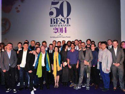 Los chefs de los restaurantes galardonados como los mejores del mundo
