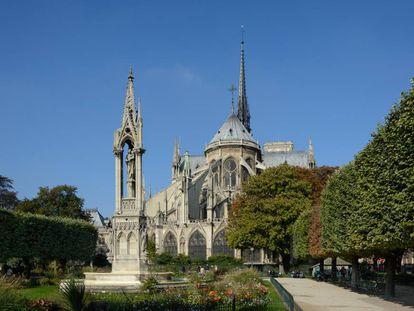 Vista este de Notre Dame, París.
