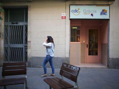 Sede de Convergència en el barrio de Gràcia de Barcelona.
