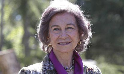 Doña Sofía, en una imagen del pasado mes de abril.