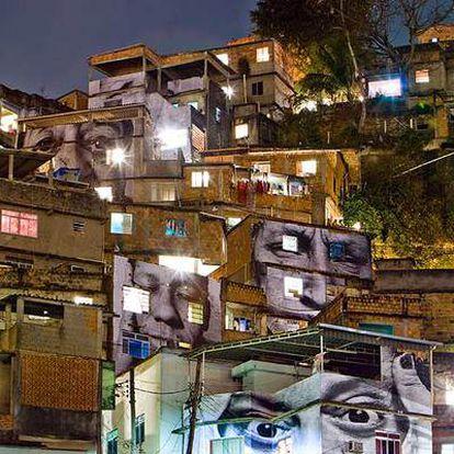 La favela Morro da Providência, de Río de Janeiro, con las imágenes de JR.
