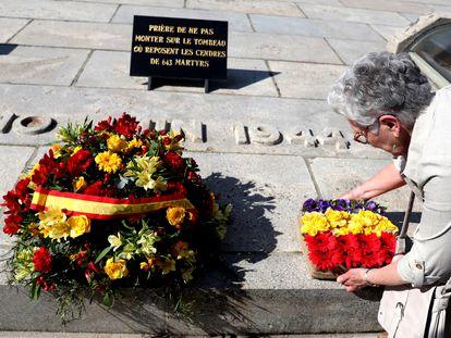 Acto de reconocimiento como víctima de la española Ramona Domínguez Gil en la matanza ocurrida en el pueblo francés de Oradour-sur-Glane, donde el 10 de junio de 1944 fueron asesinadas por los nazis 643 personas.