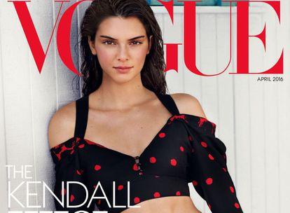 Kendall Jenner, en la portada de 'Vogue USA'.